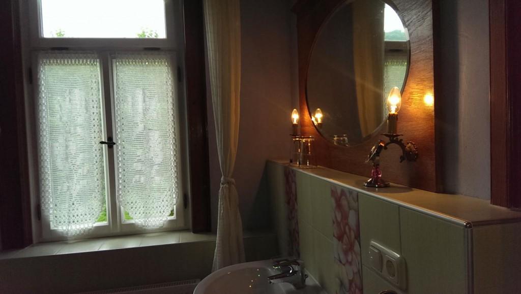The bathroom with lovely decor
